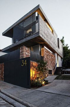 Concrete & black home