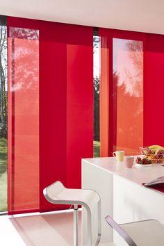 Ambiance Panneaux Japonais - Camaïeu rouge qualités Esvédra et Berlin - Collection Heytens