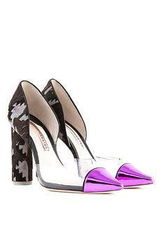 Sophia Webster Jessica Calf Hair & Patent Leather Pumps, $495, available at Saks Fifth Avenue.