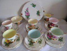 Vintage China Tea Set  Harry Wheatcroft World by PrettyVintageHome