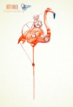 Flamingo on time