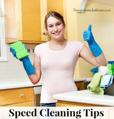 10 Speed Cleaning Tips. Let's keep these houses clean!
