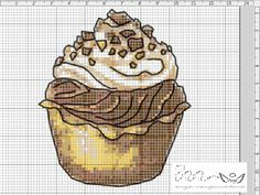 chocolate cupcake free cross stitch. yummy