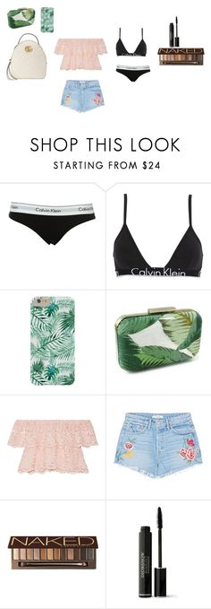 """""""everyday out fits"""" by katelinosborn on Polyvore featuring Calvin Klein, Calvin Klein Underwear, Miguelina, GRLFRND, Urban Decay, Christian Dior and Gucci"""