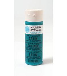 Martha Stewart Satin Craft Paint - Mermaid Teal