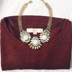 Sparkling Marble Statement Necklace #picoftheday #fashionista -  28,90 € @happinessboutique.comhappy