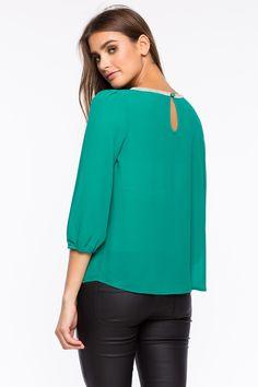 Блуза Размеры: S, M, L Цвет: темно-синий, красный, малиновый Цена: 1285 руб.  #одежда #женщинам #блузы #коопт