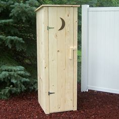 Prairie Leisure Design 51 Outhouse Storage Shed - Outdoor Living Showroom  for your garden tools :) cute!