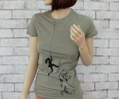 Hey, I found this really awesome Etsy listing at https://www.etsy.com/listing/165398948/cat-batting-at-climber-tshirt-ladies