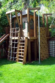 Ideas For Backyard Playground Landscaping Climbing Wall Kids Outdoor Play, Outdoor Play Spaces, Kids Play Area, Backyard For Kids, Backyard Ideas, Kids Yard, Natural Playground, Playground Design, Backyard Playground