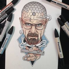 A fan arte de Breaking Bad no tumblr Heisenberg Chronicles