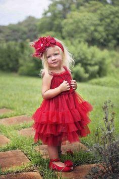 Vestido rojo de la chispa Alquiler de vacaciones, 12 meses y 10 años
