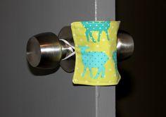 Counting Sheep Door Latch, Door Quieter, Door Catcher. $6.00, via Etsy.