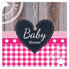 Babyshower uitnodigingskaart