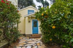 Though just 469 sq ft total, Susan's backyard cottage squeezes in spiral stairs to the loft bedroom. Small House Swoon, Small Tiny House, Tiny House Living, Tiny House Plans, Tiny House Design, Tiny Houses, Rv Living, Living Spaces, California Bungalow