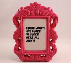 Custom Framed Quote Framed Lyrics ROCKY HORROR Picture Show Magenta home decor…