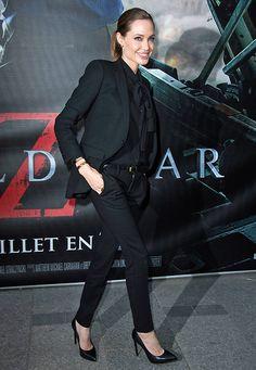 Anzug von Saint Laurent, Angelina Jolie