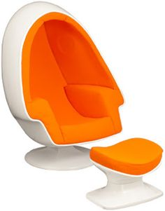 De Luxe modPod Egg Chair and Ottoman, launched 1964