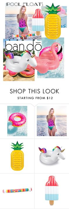 """""""Yay!!"""" by martacg2014 ❤ liked on Polyvore featuring interior, interiors, interior design, home, home decor, interior decorating, ban.do, Sunnylife and poolfloats"""