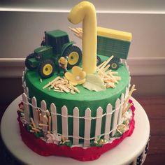 Barn Yard themed Smash Happy Birthday Cake