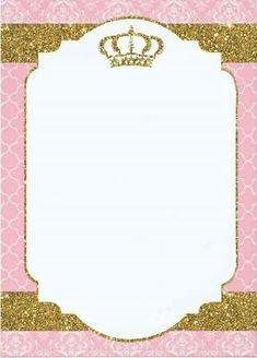 Rosa Oro Princesa Cumpleaños Invitaciones Og Invitaciones