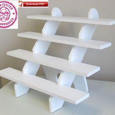 Display stand plan/corner shelf plan/wood shelf plan/corner   Etsy Cupcake Display Stand, Wood Display Stand, Table Top Display, Display Ideas, Craft Fair Displays, Market Displays, Merchandising Displays, The Plan, How To Plan