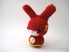 The Flash Moon Bun - Amigurumi Superhero Bunny Rabbit by Moon's Creations