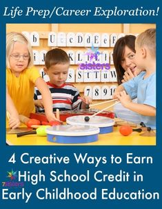4 Creative Ways to Earn High School Credit in Early Childhood Education High School Curriculum, Writing Curriculum, Homeschooling, High School Credits, Christian High School, Career Exploration, High School Years, Online College, College Tips