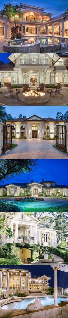 54 Stunning Dream Homes & Mega Mansions From Social Media Find beautiful… Dream Mansion, Mega Mansions, My Dream Home, Dream Homes, Modern Mansion, Big Houses, House Goals, Exterior Design, Future House