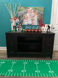 Football Birthday Party Ideas - Party Decor. Fear the Spear - Football Birthday Party Ideas, Food, Decor and Activities