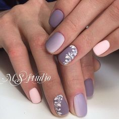 Beautiful gradient nails, Beautiful nails 2017, Matte nails, May nails, Nail designs with pattern, Ombre nails, Short spring nails, Spring gradient nails
