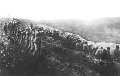 USSR, 1941, An execution, by the Einsatzgruppen, during Operation Barbarosa.