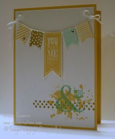 Stampin' Up! You & Me card using Sale-A-Bration 2014 products by Kristin C.