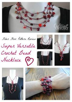 free crochet pattern review- super versitle bead necklace #fiberflux #cre8tioncrochet