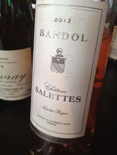 Château Salettes Bandol Rosé 2013 *35% mourvedre, 35% cinsault, 30% grenache *round and lush *great acid *strawberry candy *subtle white flowers *really good! *$30-355 (was)