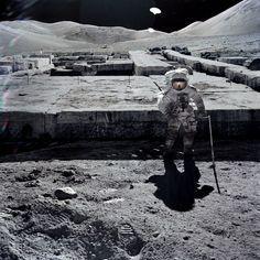 Moon alien structure