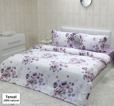 Luxury Bedding Sets From Tencel Fiber, Duvet Covers King Queen Sizes 4 or 5 Pieces