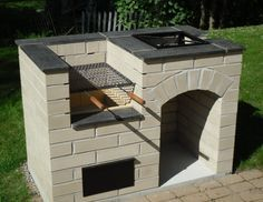 """Outstanding """"built in grill diy"""" info is offered on our website. Fire Pit Backyard, Backyard Bbq, Brick Grill, Outdoor Oven, Design Jardin, Built In Grill, Backyard Patio Designs, Patio Ideas, Garden Bbq Ideas"""