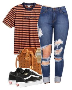 """""""Untitled #221"""" by trin187 ❤ liked on Polyvore featuring GUESS, MCM, Vans and American Apparel"""