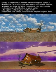 the creepy yet charming Cartoon Network hit haunted our dreams, Courage the Cowardly Dog real house? Was Courage The Cowardly Dog based on a true story? Creepy Facts, Wtf Fun Facts, Creepy Stuff, Random Facts, Amazing Science Facts, Strange Facts, Strange Things, True Facts, Random Stuff