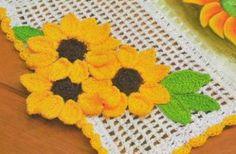 Patrones Crochet, Manualidades y Reciclado: FLORES DE GIRASOLES PATRONES PARA TEJER A CROCHET