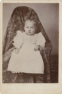 """What is Under the Cloth? - Cabinet Card of Baby with """"Hidden Mother"""""""