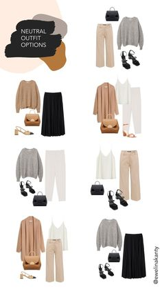 Neutral Outfit Options in 2020 | Outfits, Fashion outfits, Summer capsule wardrobe