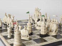 Джон Компания-неофициальное название Ост-Индской компании-шахматы, сделанные в Индии с.  1830.