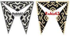 треугольные кулоны из бисера