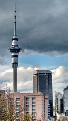 Calling out clouds - Auckland Sky Tower - Day 35