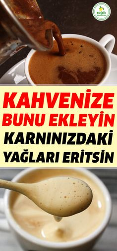 Thanks to these 3 ingredients that you will add to your coffee, you can use . Natural Health Remedies, Natural Cures, Herbal Remedies, Health And Nutrition, Health Fitness, Health Tips, Health And Wellness, Best Diet Plan For Weight Loss, Turkish Recipes