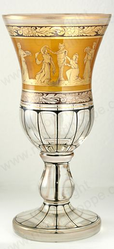 Antique amber glass. Bohemian flashed and hand decorated vase, c.1890. To visit my website click here: http://www.richardhoppe.co.uk or for help or information email us here: info@richardhoppe.co.uk