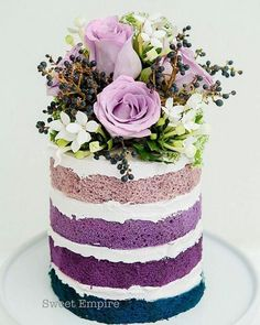Durable Cake for Carving~Doctored Box Mix Ombre Violet to lilac naked cake - For all your cake decorating supplies, please visit .ukOmbre Violet to lilac naked cake - For all your cake decorating supplies, please visit . Pretty Cakes, Cute Cakes, Beautiful Cakes, Amazing Cakes, Amazing Wedding Cakes, Brownie Desserts, Oreo Dessert, Mini Desserts, Pumpkin Dessert