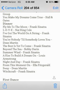 playlist idea for dinner, love all of these songs!